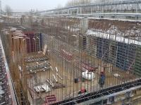 Возведение монолитных железобетонных стен резервуара