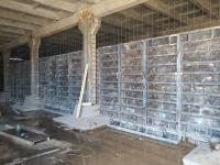 Монтаж опалубки под бетонирование перегородок внутри РЧВ
